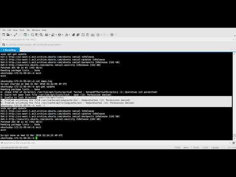 Recording Console Commands Using Script/Scriptreplay