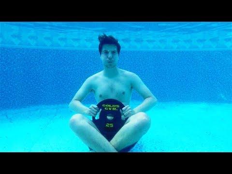Spending 24 Hours Straight Under Water Challenge