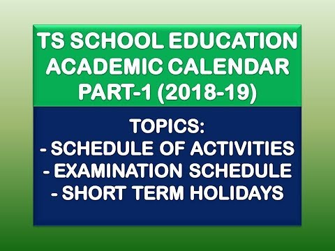 TS School Education Academic Calendar-2018-19 Part-1