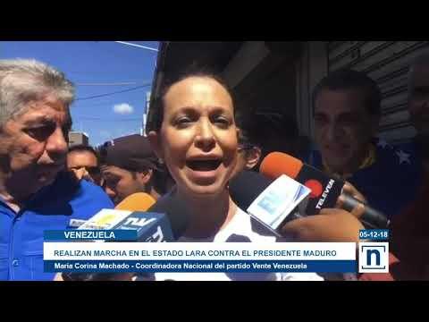 María Corina Machado lidera marcha en Barquisimeto