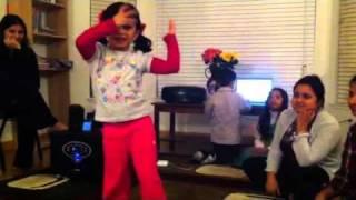 Kajrare- Amy dancing on Hindi song