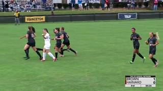 Brown v Harvard Womens Soccer Highlights