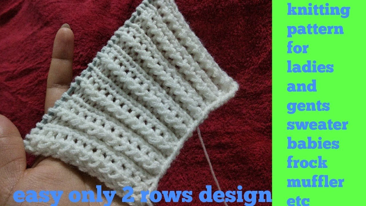 cc4befdf4 Beautiful easy knitting design for ladies
