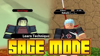 HOW TO GET HASHIRAMA SAGE MODE IN NINDO RPG: BEYOND | Roblox