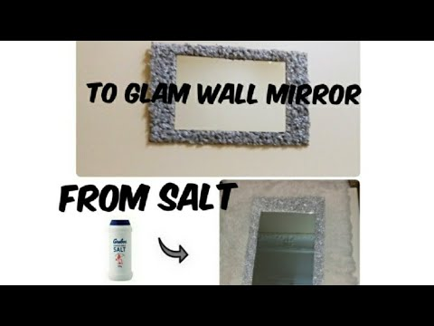 Diy Glam Wall Mirror 2019/Diy Wall Hanging Craft Ideas /Wall Craft/mirror decorating ideas