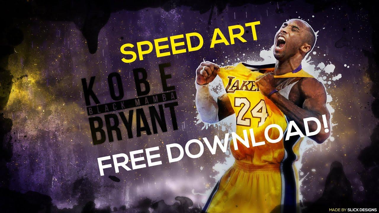 Speed art kobe bryant wallpaper youtube - Kobe bryant pc wallpaper ...