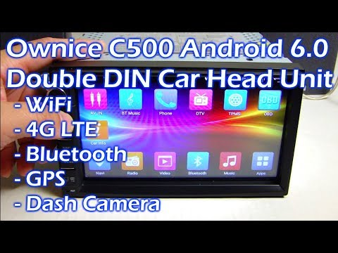 "OWNICE C500 - 7"" Android 6.0 Car Stereo WiFi 4G Bluetooth GPS Dash Cam - Full Review"