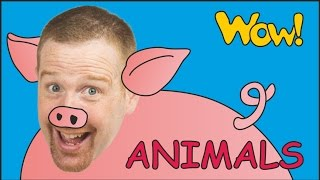 Farm Animals for Kids + MORE | Steve and Maggie with Animals | English Stories from Wow English TV