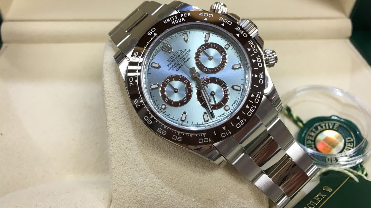 A brand new Rolex Cosmograph Daytona 116506 Ice Blue Dial 40mm platinum  swiss luxury watch Unboxing