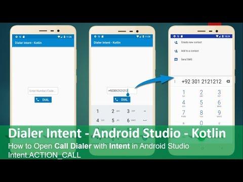 Dialer Intent - Android Studio - Kotlin