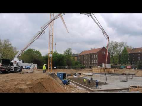 1 concrete pump Nr. 42-5  - 42 trucks  - 300 cubic meters in 7 hours