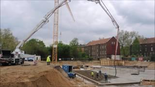 1 Betonpumpe Putzmeister 42-5  -  42 LKW   -  300 Kubikmeter in 7 Stunden