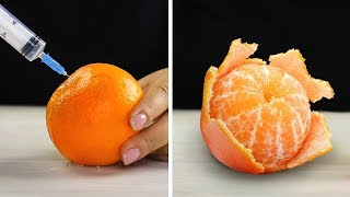 24 แฮ็กฉลาดที่จะปอกเปลือกและหั่นผักและผลไม้