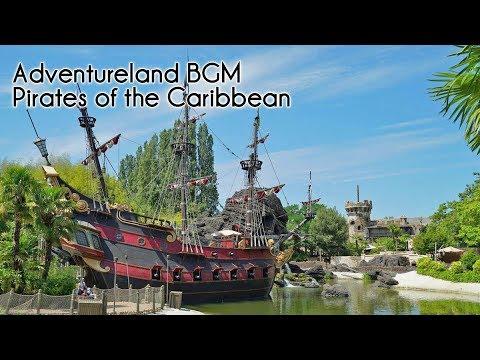 Adventureland & Pirates of the Caribbean BGM  Disneyland Paris