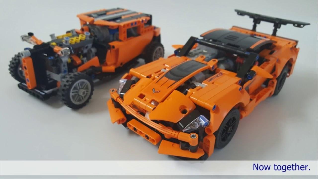 Lego Technic 42093 Rc Motorized Chevrolet Corvette Zr1 Hot Rod