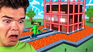 BREAKING INTO HEROBRINE'S MINECRAFT HOUSE! (Stealing DIAMONDS)