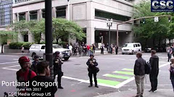 Oregon State Patrol Arrive To Back Up Homeland Security And Portland PD At #FreeSpeechPDX Event