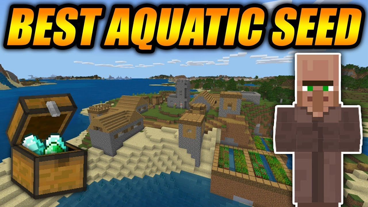 Best Minecraft Update Aquatic Seed Ever Minecraft Bedrock Edition Survival Seed Youtube