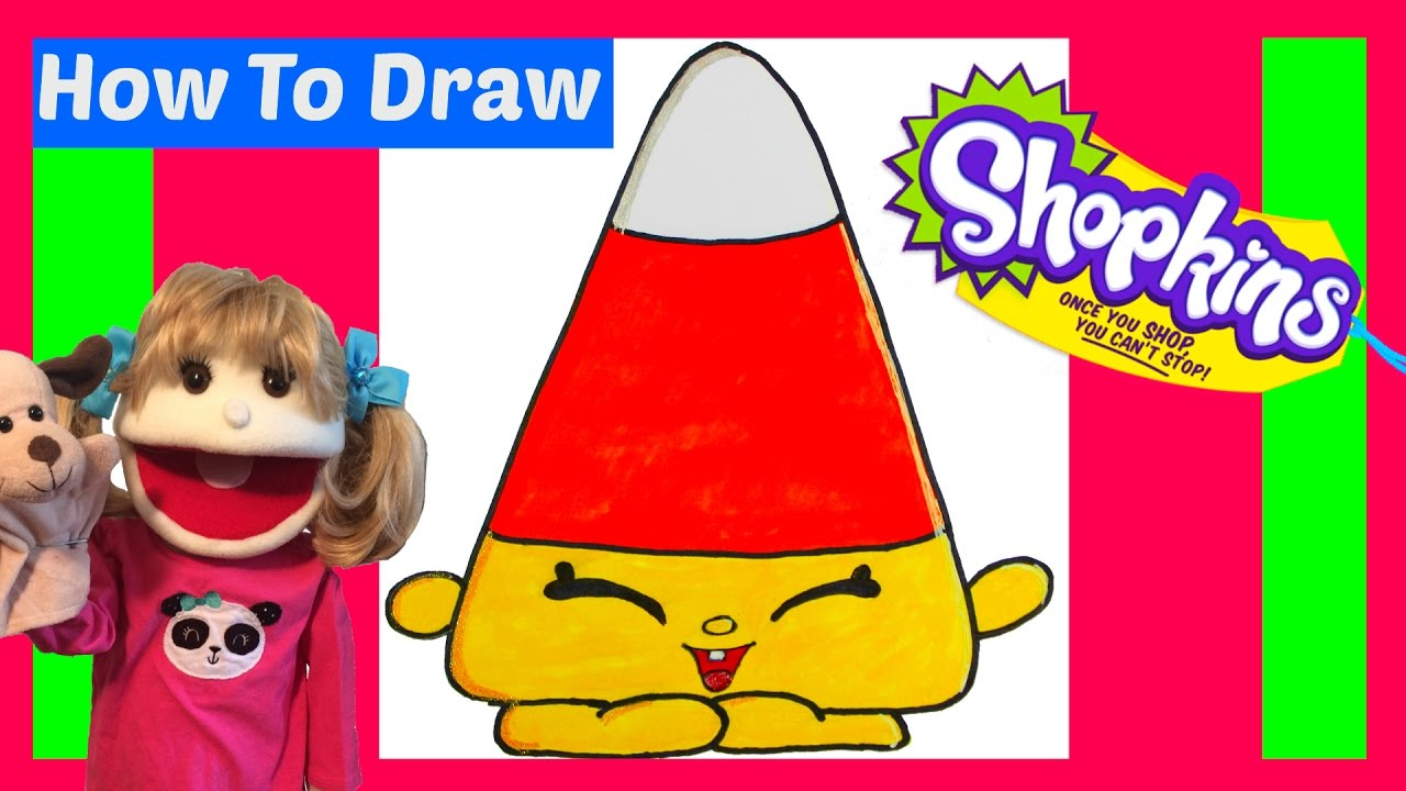 Exceptional How To Draw Shopkins Mandy Candy Corn Step By Step Easy Halloween 2016 How  To Draw For Kids Drawing