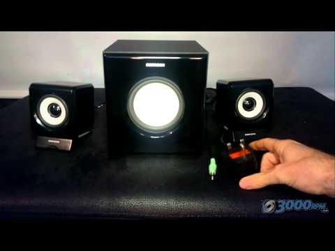 Sumvision Ncube Pro 2.1 Black PC MP3 Laptop Speaker System with Subwoofer Review