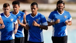 Rosales y Darder, novedades en la sesión matinal del Málaga CF