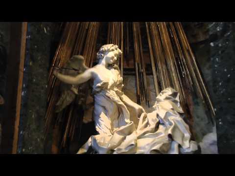 Basilica di Santa Maria della Vittoria. Rome HD.