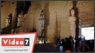 إسدال الستار عن تمثال الملك رمسيس الثاني بمعبد الأقصر