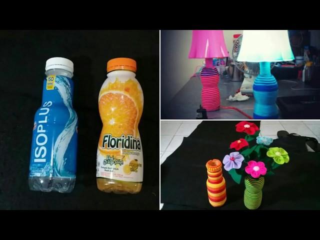 Ide kreatif botol bekas,tali kur,vas bunga,lampu hias,reused,lamp pendant,pelangi shop