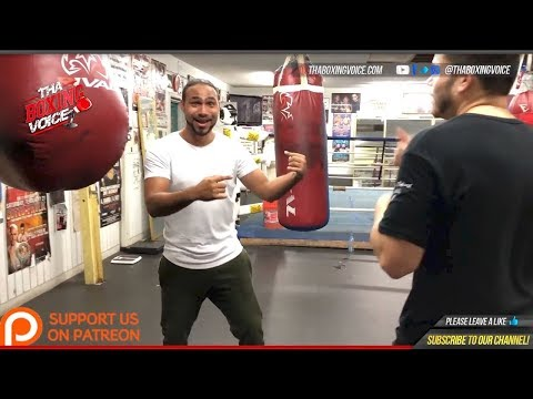 Keith Thurman Gives a Boxing Lesson to TBV-Breaks Down Timing, Footwork, & Punch Selection