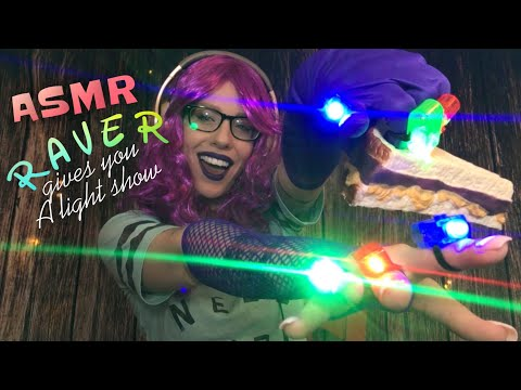 ASMR RAVER GIVES YOU A LIGHT SHOW TO CALM YOUR  a n x i e t y