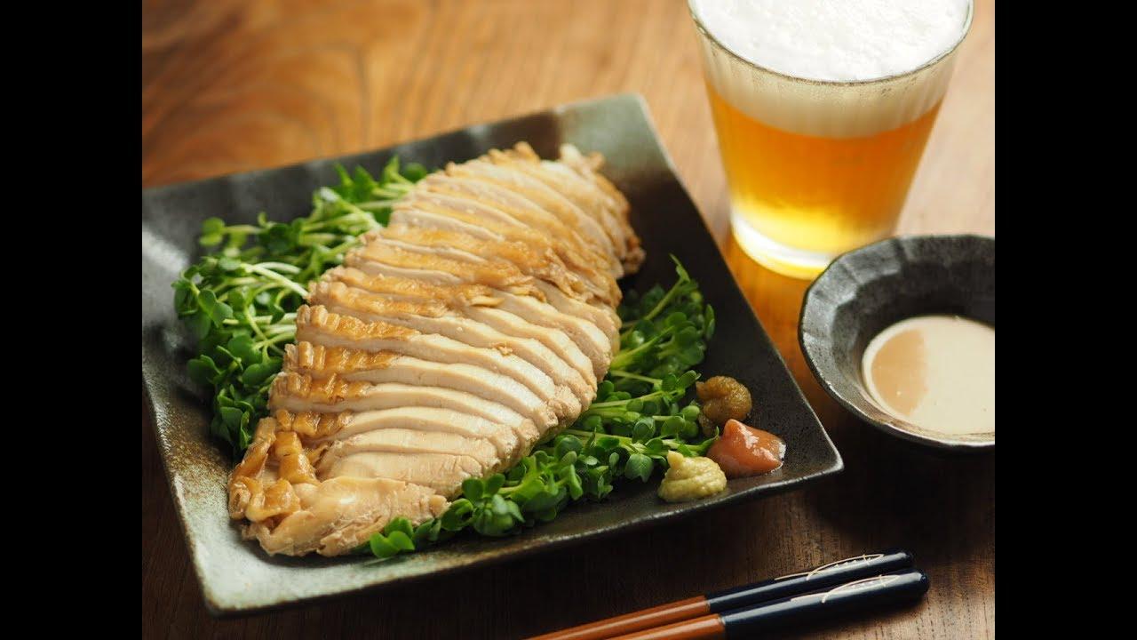 冷凍保存で便利、美味しい!鶏むね肉のぽん酢蒸し、アレンジ料理