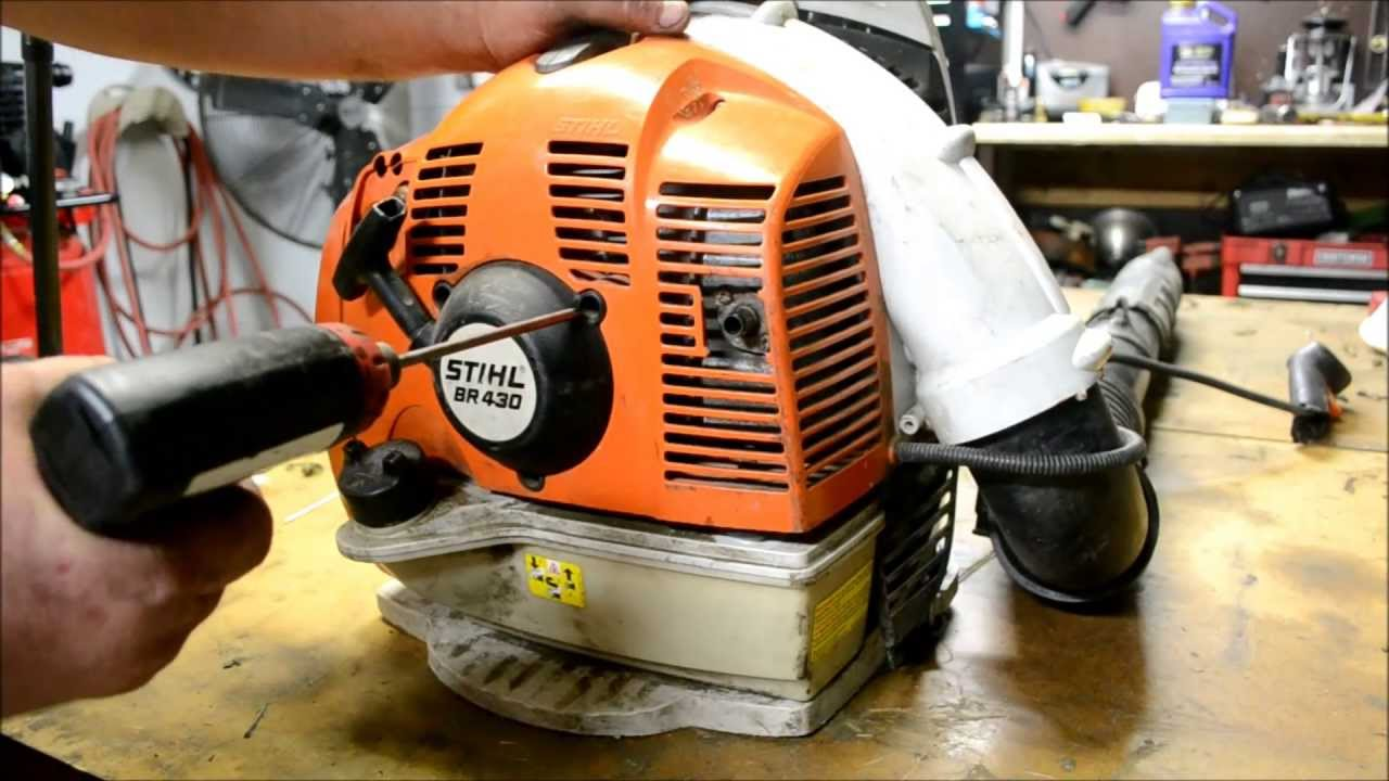 Stihl Br430 Tear Down And Throttle Handle Assembly