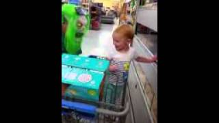 Mom scares baby