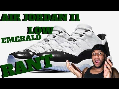 AIR JORDAN 11 LOW EMERALD RANT