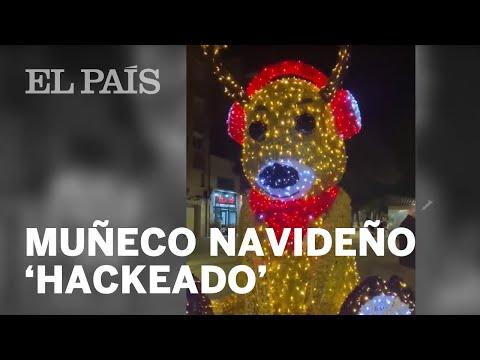 """""""Soy Rodolfo y soy un golfo"""", hackean un muñeco navideño en Viladecans"""