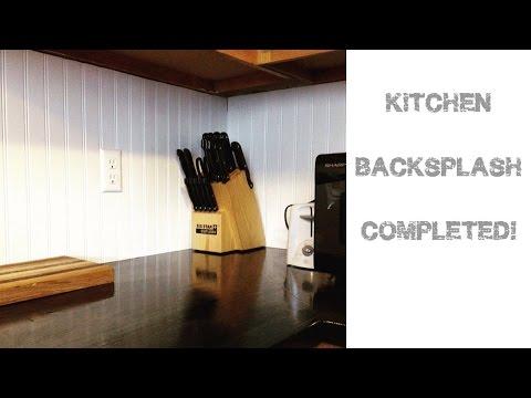 Kitchen Backsplash Completed!