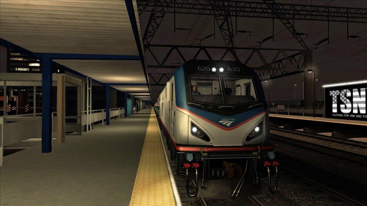 Train Simulator 2014 AMTRAK ACS 64 Vermonter to Stamford