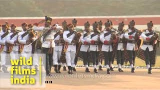 Bagpiper band march past during NCC National Games closing ceremony
