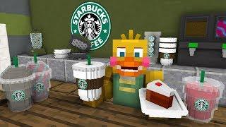 FNAF Monster School: Working at Starbucks! - Minecraft Animation