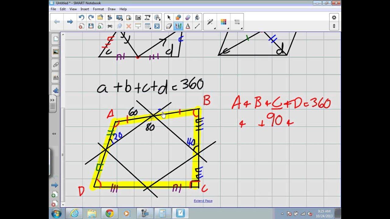 Properties Of Quadrilaterals Grade 9 Academic Lesson 7 5 Youtube