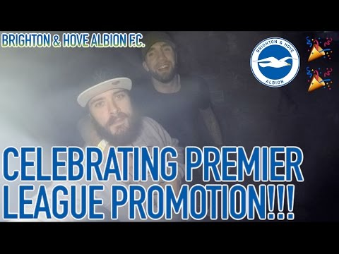 Brighton & Hove Albion players got drunk to celebrate their Premier League promotion!