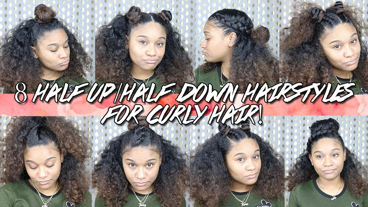 8 Half Up Half Down Hairstyles For Curly Hair