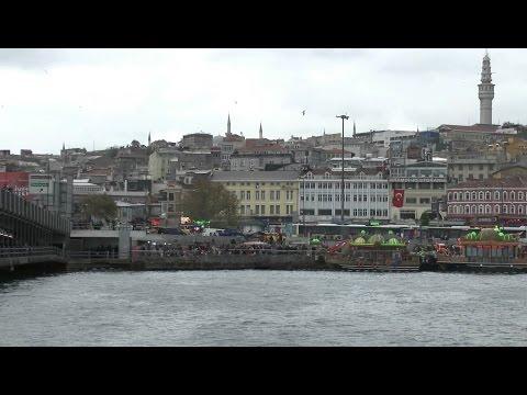 Istanbul Eminönü Galata Bridge and Golden Horn