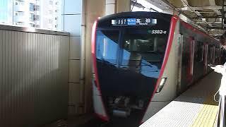 都営浅草線5500形5502Fエアポート急行「高砂行き」京急蒲田駅到着