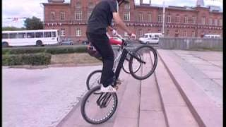 Экстрим на велосипеде. Extreme cycling