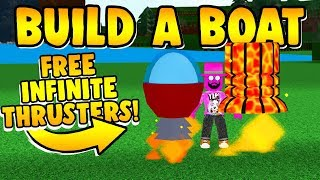 Build a Boat GET FREE INFINITE THRUSTERS NOW!!!