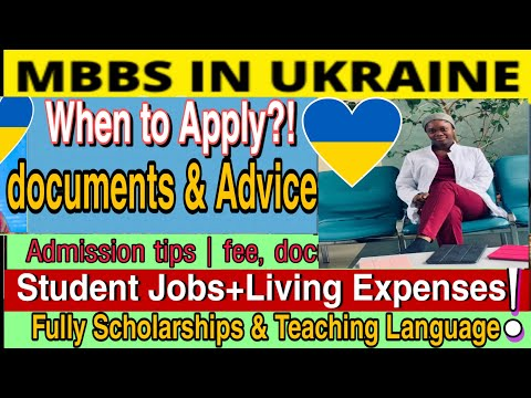 STUDY In UKRAINE | Admission | Student Jobs |Scholarships| (No IELTS) - MBBS Experience