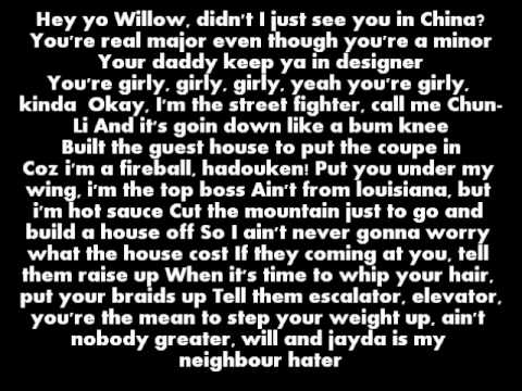 Willow Smith ft. Nicki Minaj - Fireball Lyrics