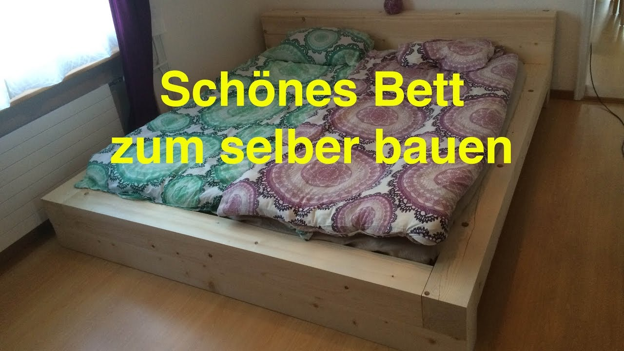 ein bett zum selber bauen by lunchvegaz youtube. Black Bedroom Furniture Sets. Home Design Ideas