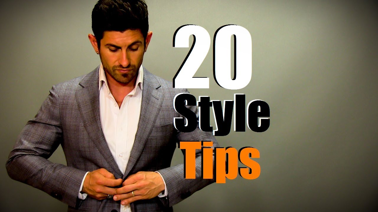 20 Simple Style Tips For Men Men S Style Do S And Don Ts